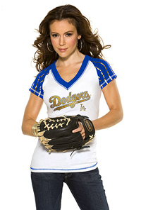 Alyssa Milano, Hottest Dodgers Fan Evar